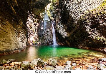 Beautiful Kozjak waterfall, Slovenia