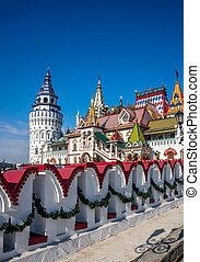Beautiful Kremlin in Izmaylovo in the spring, Moscow, Russia