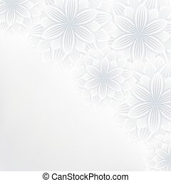 Beautiful lace floral background with flowers