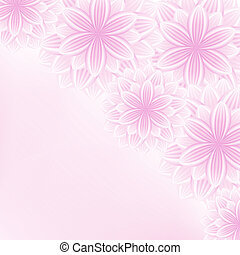 Beautiful lace floral pink background with flowers