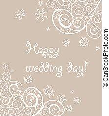 Beautiful lacy wedding greeting