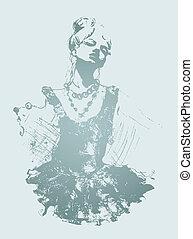 beautiful lady illustration
