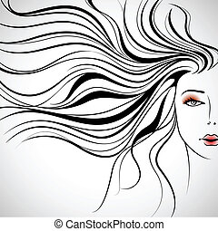 Beautiful Lady - illustration of beautiful lady in with ...