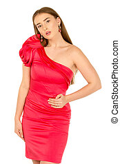 Lady in red evening dress - Beautiful Lady in red evening ...