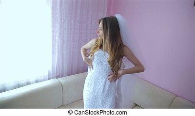 Beautiful lady wedding dress