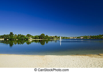 Beautiful lagoon - Landscape picture of a beautiful ...