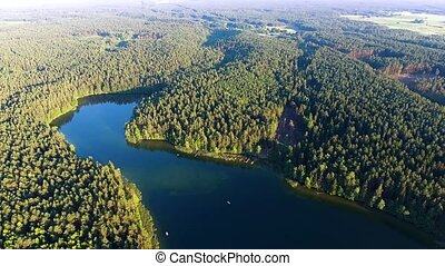 beautiful lake aerial view