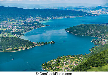 Beautiful Lake Annecy from above.