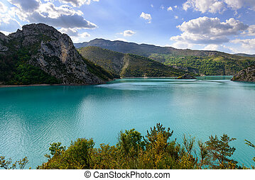 Beautiful lake in France