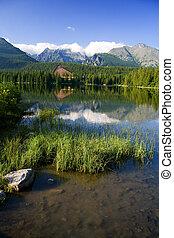 Beautiful Lake in High Tatras - Strbske pleso