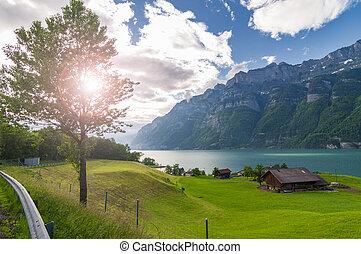 Beautiful lake in Switzerland.