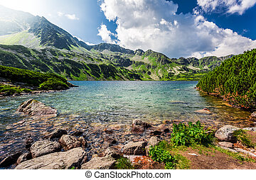 Beautiful lake in the Tatra Mountains