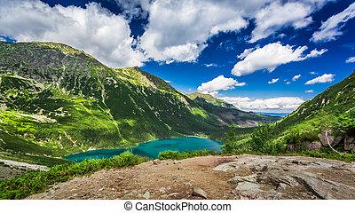 Beautiful lake in the Tatras mountains at dawn, Poland