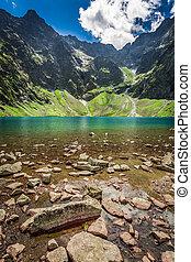 Beautiful lake in the Tatras mountains, Poland, Europe