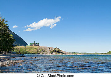 Beautiful Lake In Waterton Alberta - View Of Serene Lake In...