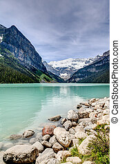 Beautiful Lake Louise in the Canadian Rockies
