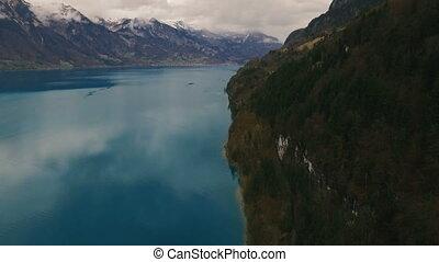 Beautiful lake near mountains.