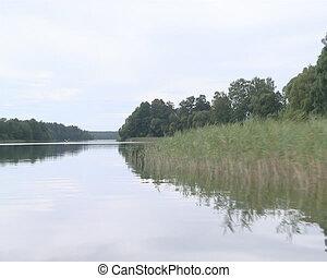 Beautiful lake shore cove filled