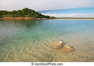 Beautiful lake water - Beautiful lake at day. Nature...
