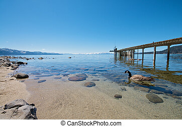 Beautiful Lake with Pier - Pier at a vacation resort in Lake...