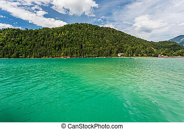 Beautiful lake Wolfgangsee in Austria