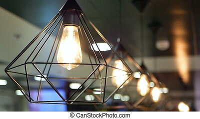 Beautiful lamps light - Beautiful lamps on ceiling in...