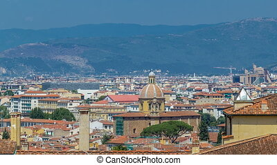 Beautiful landscape above timelapse, panorama on historical...