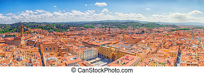 Beautiful landscape above urban and historical view of the...