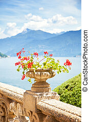 Beautiful landscape at Como lake
