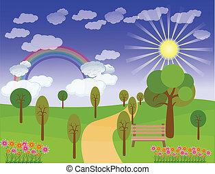 Beautiful landscape background