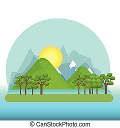 beautiful landscape background icon