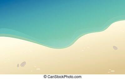 Beautiful landscape beach collection stock