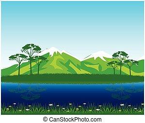 Beautiful landscape by summer