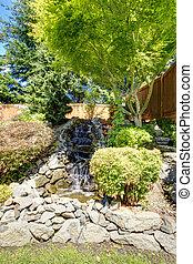 Beautiful landscape design for backyard garden