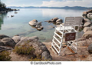 Lake Tahoe - Beautiful landscape during winter time at the...