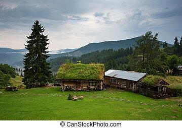 Beautiful landscape. Gela village in the summer, Rhodope mountains, Bulgaria