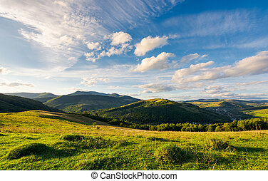 beautiful landscape in afternoon. gorgeous blue sky with...