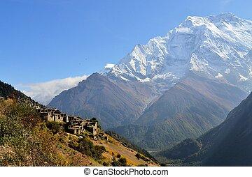 Beautiful landscape in Annapurnas, Himalayas, Nepal