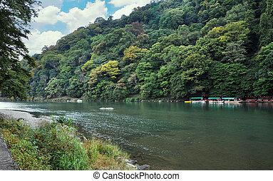 beautiful landscape in Arashiyama, Kyoto, Japan