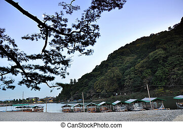 Beautiful landscape in Arashiyama,a touristic area in the north west part of Kyoto, Japan