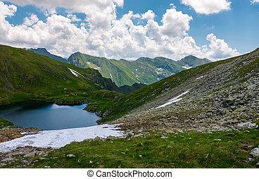 Beautiful landscape in Fagarasan mountains. Popular travel...