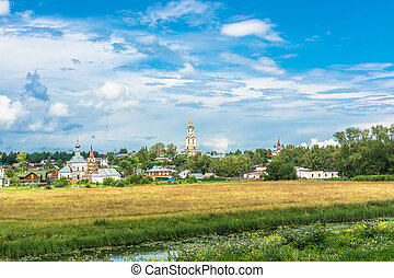 Beautiful landscape in the ancient city of Suzdal, Russia. -...
