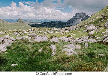 Beautiful landscape mountain panorama scenery