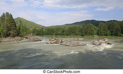 Beautiful landscape mountain river