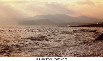 Beautiful landscape near cape Meganom (Full HD)