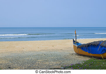 beautiful landscape of a beach with
