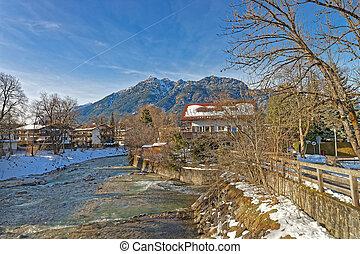 Beautiful landscape of Bavarian Village Garmisch-Partenkirchen