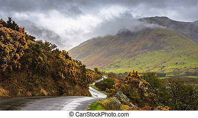 Beautiful landscape of Wast water, Lake District, Cumbria, England