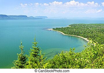 Lake Superior - Beautiful landscape of Lake Superior ...