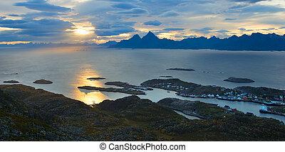 Beautiful landscape of Lofoten in Norway